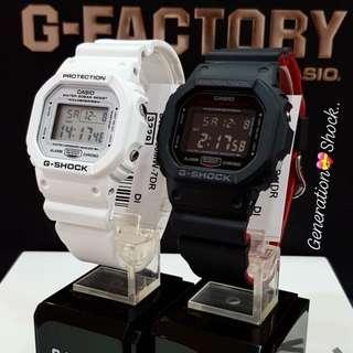 COUPLE💝PAIR🌹SET GSHOCK DIVER SPORTS WATCH : 1-YEAR OFFICIAL WARRANTY: 100% Original Authentic G-SHOCK Resistant In Best For Most Rough Users & Unisex: DW-5600MW-7 + DW-5600HR-1 / DW-5600 / DW5600 / DW5600HR / GSHOCK DIVER