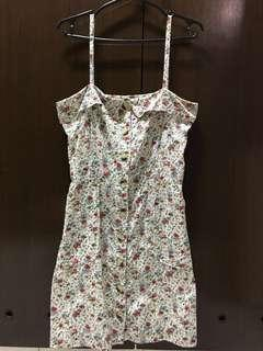Mango Floral Buttoned Dress