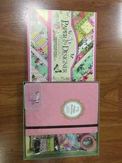SCRAPBOOK SET!! Pink Scrapbook Kit + Design Paper Booklet