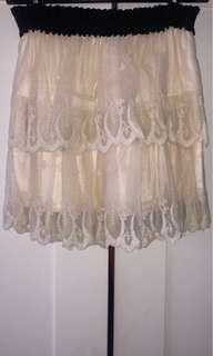 Ivory Beige Nude Skirt