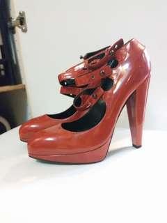 LANVIN 全新5吋紅色高跟鞋high heel
