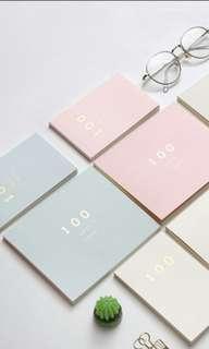 100 Day notebook / Hundred Days Notebook