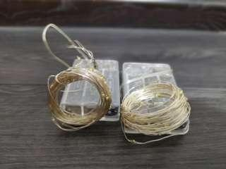 Brand new copper wire fairy lights (battery operated)