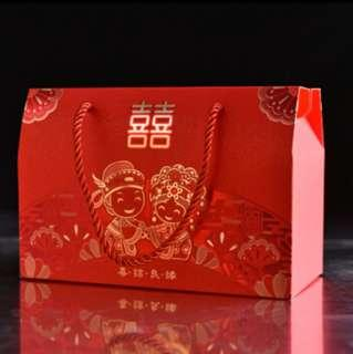 Guo da li wedding paper bag / box / carrier