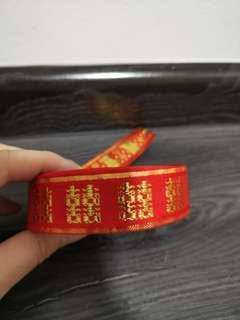 Wedding Xi red ribbon