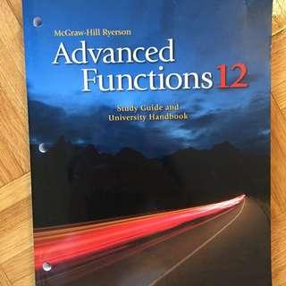 ADVANCED FUNCTIONS 11&12 workbooks