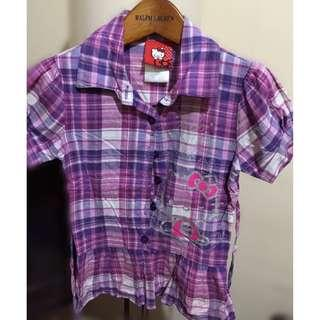Hello Kitty Purple Blouse
