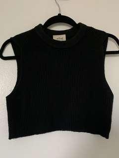 Cropped aritzia knit tank/vest