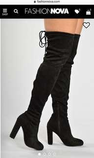 Fashion Nova thigh high boots