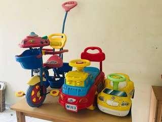 Varieties of Pre-Loved Toddlers Vehicles Toys