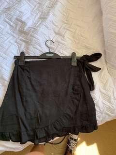 Glassons black wrap skirt