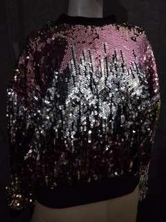 Sequin glitters sweaters sweatsuit #FEBP55