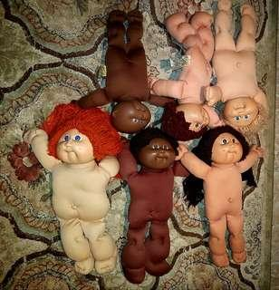 Vintage 5 cabbage patch kids & 1baby