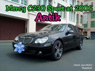Mercedes Benz / Mercy C230 Sport AT 2006, Hitam Antik ##