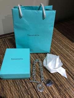 Tiffany RTT silver heart toggle bracelet EUC