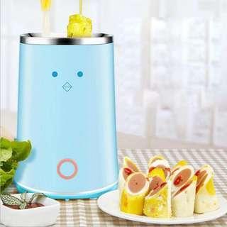 Double Tube Automatic Egg Roll Machine 220V DIY Egg Sausage Dog Maker Home Breakfast Omelette Non Stick