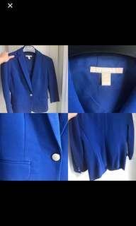 Banana Republic royal blue blazer petite 0