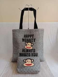 Paul frank tote with pouch
