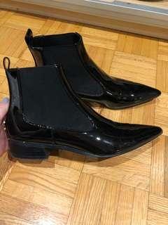 Black Pointed Toe Zara Booties