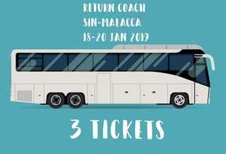 Coach Bus Tickets x 3