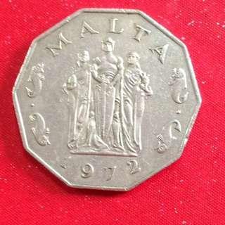 1972 Malta 50 cents