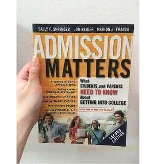 🚚 Admission Matters