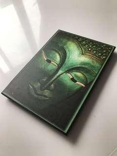 Buddha Painting on Wood Ready Framed for hanging