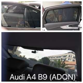 Original ADON Shades Custom Fit Press Fit Sunshades on Audi A4 B9