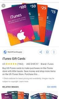 Google play store card and apple itune card