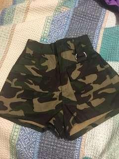 Camo Print Shorts