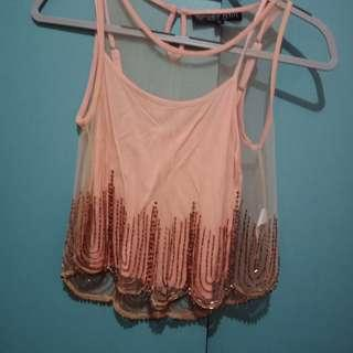 Topshop XS Peach Top