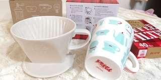 🚚 Kalita日本原裝濾泡咖啡組小叮噹Doraemo