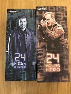 12 inches (1/6) Subway Jack Bauer & Tony Almeida 24 TV series Action Figure