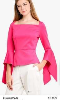 Dressing Paula Neoprene Peplum Top