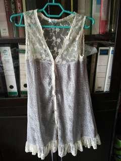 Lacey long sleeveless cardigan