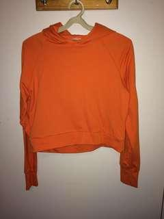 Orange lightweight hoodie