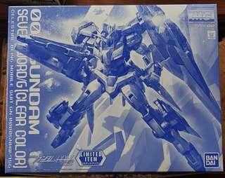 MG 1/100 00 Gundam Seven Sword/G (Clear Color) with Clear Action Base bandai rg pg hg