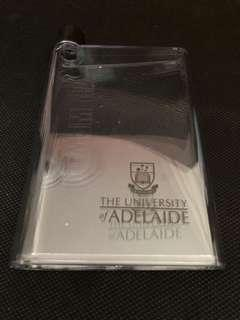 BN Brand New The University of Adelaide High Quality Clear See Through White A5 Memo Water Bottle