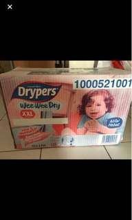 Drypers wee wee dry XXL - 128pcs