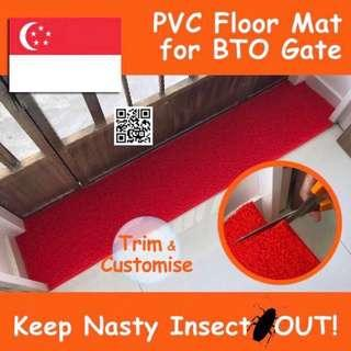 🚚 Red PVC Floor Mat for BTO HDB / Waterproof Carpet Rug