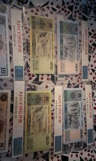 四版人民币大全套,8o年5o元,8o年1oo元9o年5o元,9o年1oo元