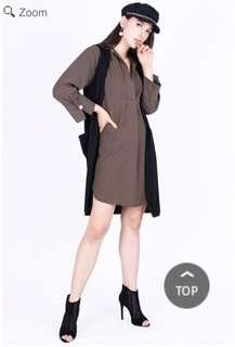 LONG SHIRT / KEMEJA PANJANG / KEMEJA DRESS / ARMY