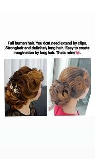 Model hairdo