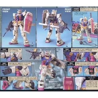請看推廣優惠 全新未砌 MG 1比100 RX-78-2 RX78 One Year War 0079 Gundam 元祖 高達模型 3