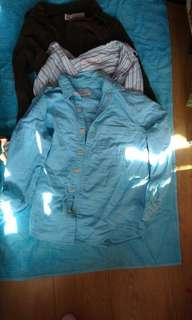 3pcs - used izzue dress shirts - size 2