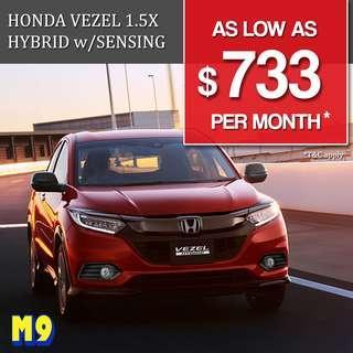 Honda Vezel Hybrid 1.5 X Honda Sensing (A)