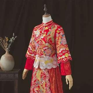結婚敬茶服  裙褂   龍鳳褂 wedding big day Chinese wedding gown