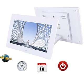P12 Discoball 10 inch Digital Photo Frame [ HD 720p TFT Bright LCD Display | 16:9 Widescreen ] (White)