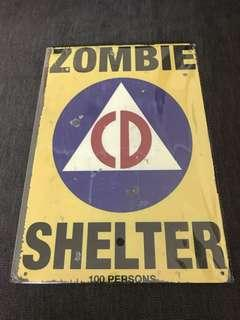 Sale 🌟 BN Zombie Shelter tin plate 20c30cm