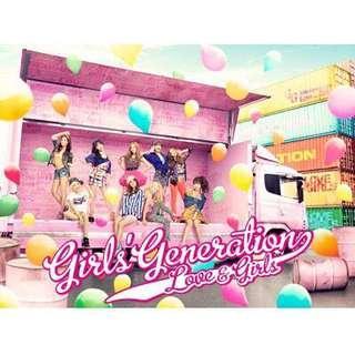 "NEW Japanese Single ""Love & Girls"" 初回限定盤CD+DVD - GIRLS' GENERATION  少女時代 / SNSD"